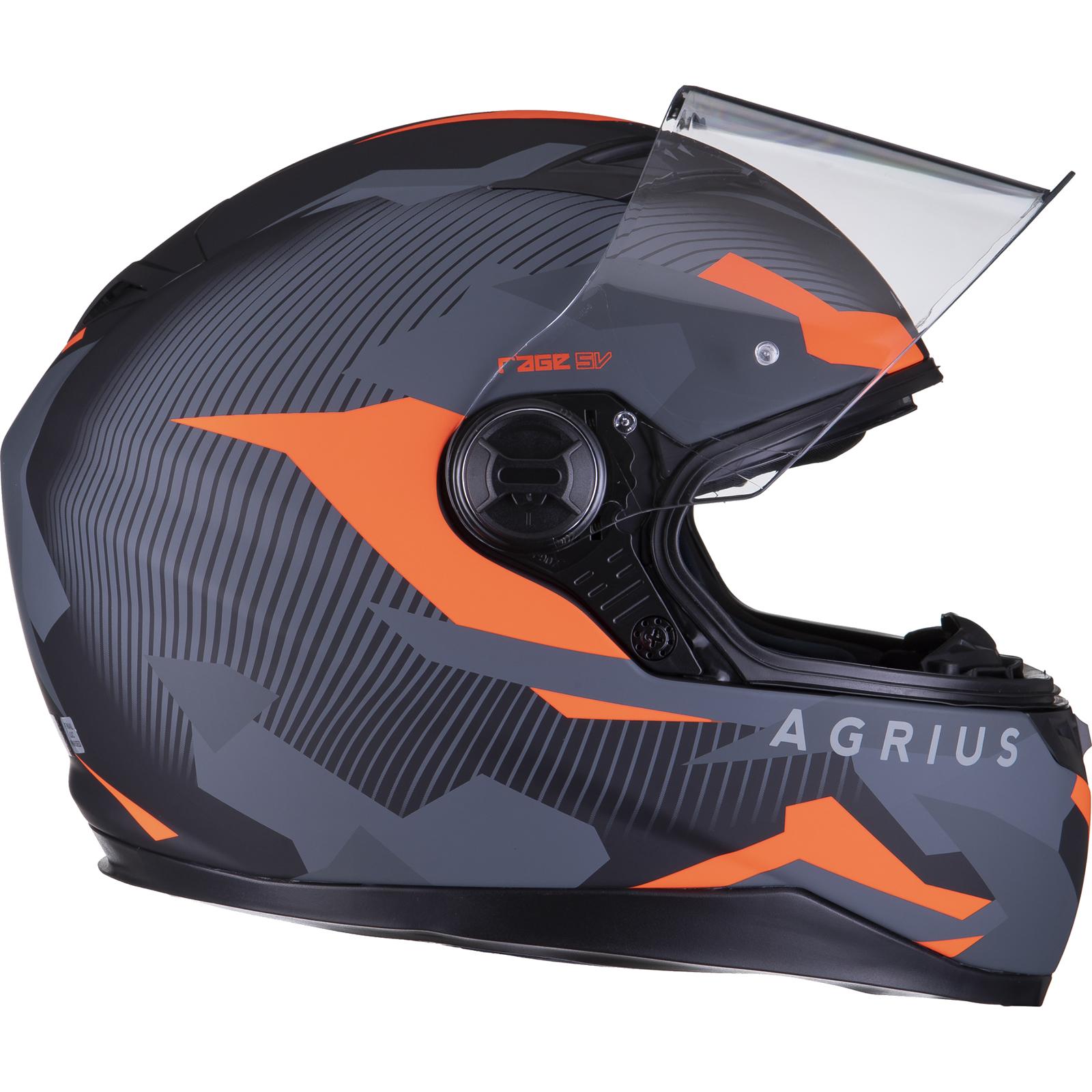 Agrius-Rage-SV-Tracker-Full-Face-Motorcycle-Matt-Helmet-bike-Road-Bike-Scooter thumbnail 34