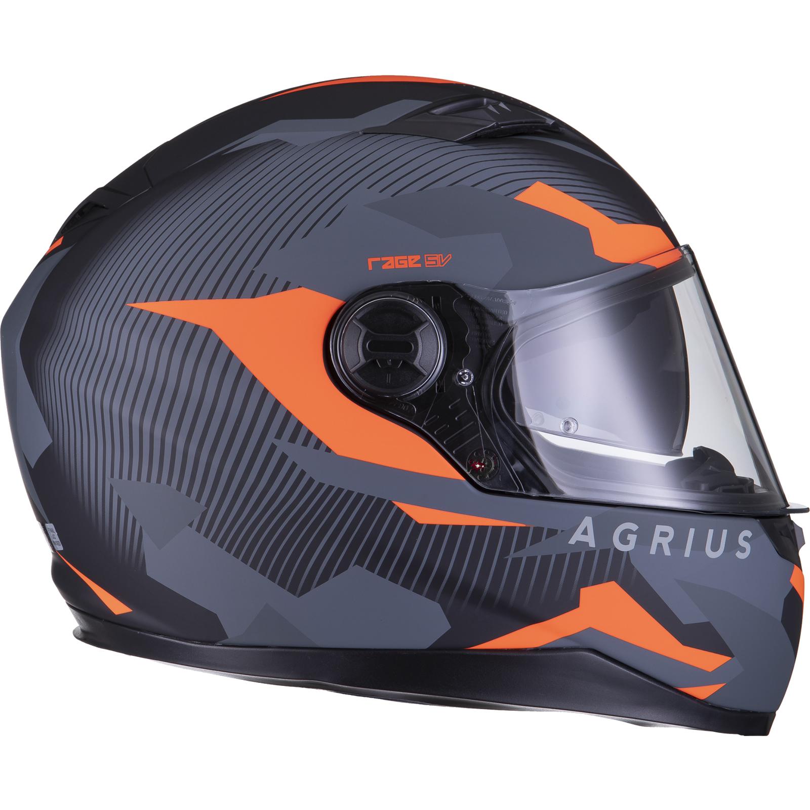Agrius-Rage-SV-Tracker-Full-Face-Motorcycle-Matt-Helmet-bike-Road-Bike-Scooter thumbnail 36