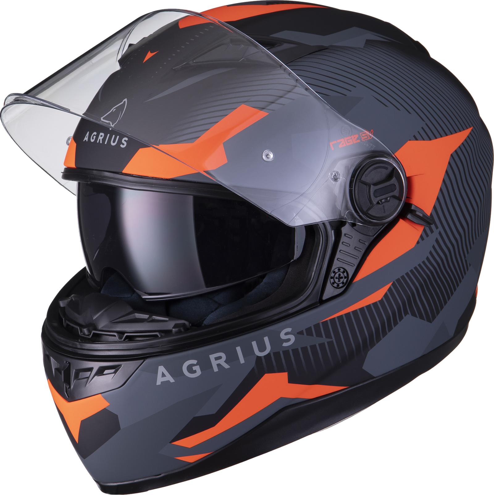 Agrius-Rage-SV-Tracker-Full-Face-Motorcycle-Matt-Helmet-bike-Road-Bike-Scooter thumbnail 26