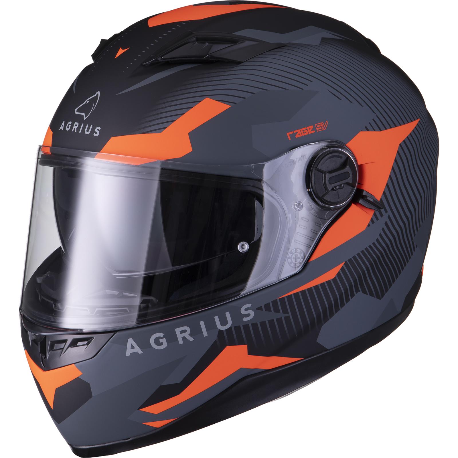 Agrius-Rage-SV-Tracker-Full-Face-Motorcycle-Matt-Helmet-bike-Road-Bike-Scooter thumbnail 27