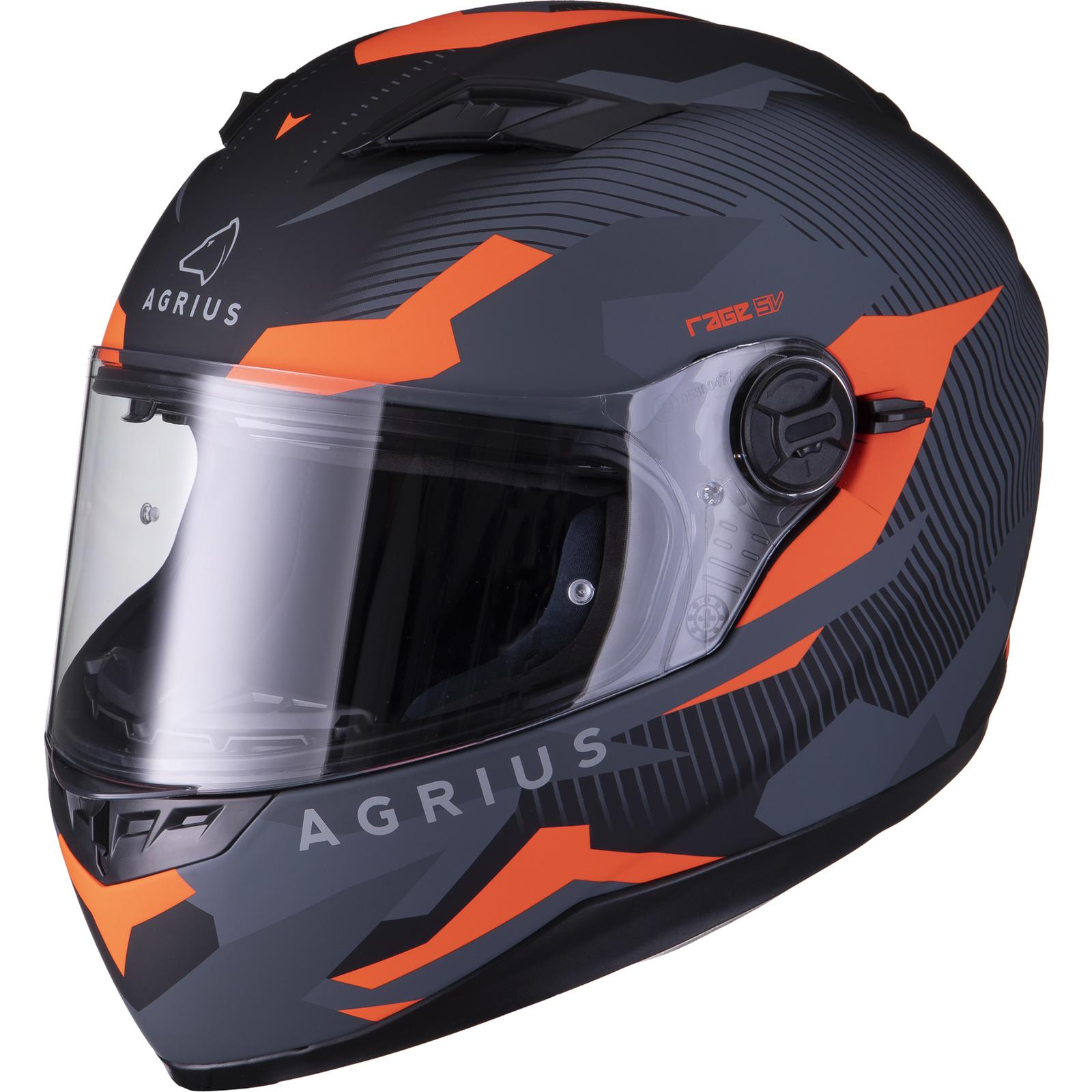 Agrius-Rage-SV-Tracker-Full-Face-Motorcycle-Matt-Helmet-bike-Road-Bike-Scooter thumbnail 28