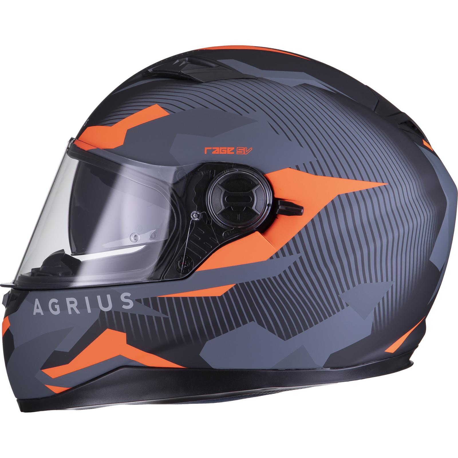 Agrius-Rage-SV-Tracker-Full-Face-Motorcycle-Matt-Helmet-bike-Road-Bike-Scooter thumbnail 29