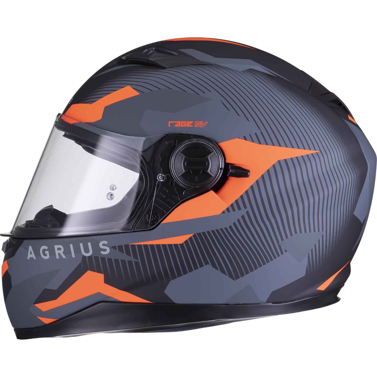 Agrius-Rage-SV-Tracker-Full-Face-Motorcycle-Matt-Helmet-bike-Road-Bike-Scooter thumbnail 30