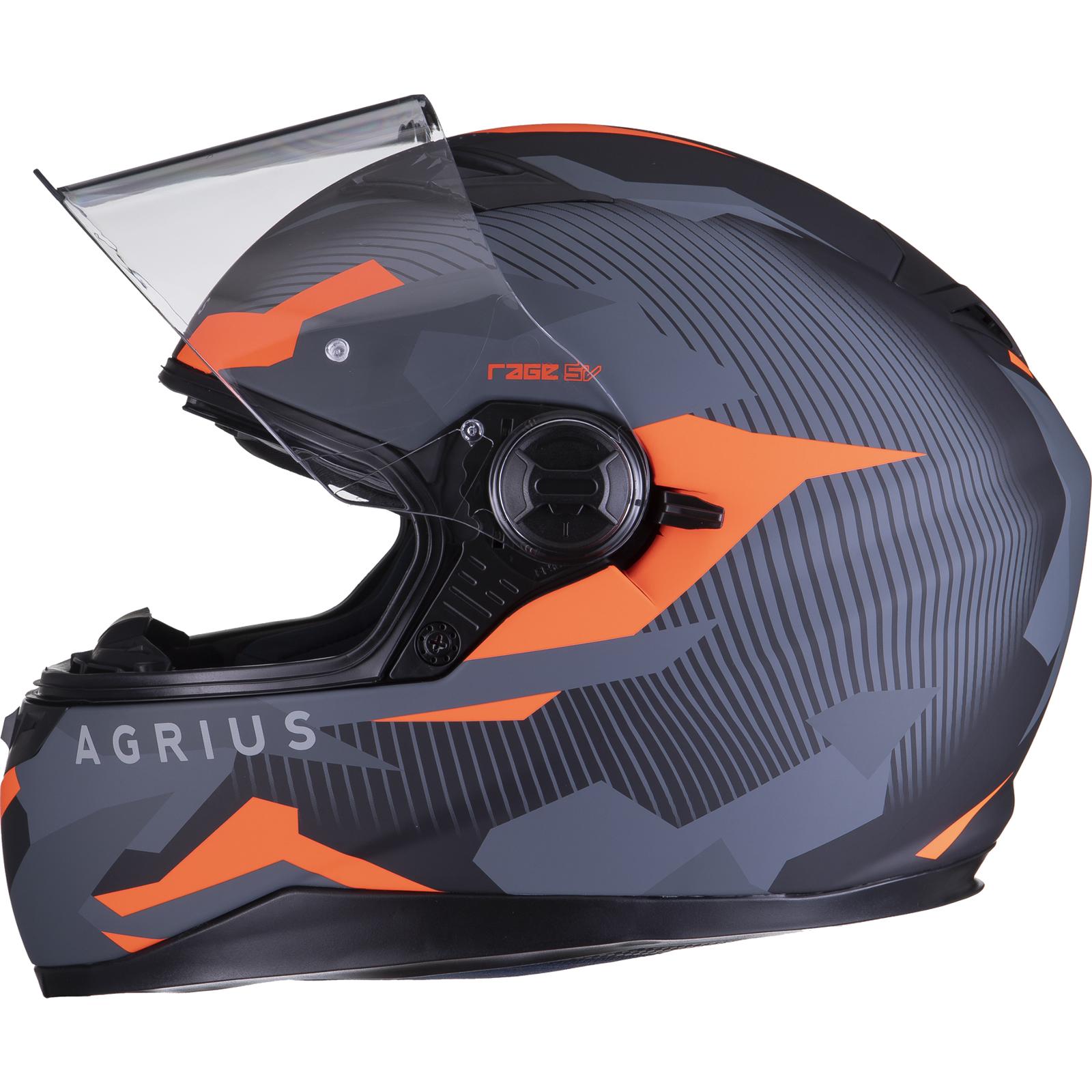Agrius-Rage-SV-Tracker-Full-Face-Motorcycle-Matt-Helmet-bike-Road-Bike-Scooter thumbnail 31