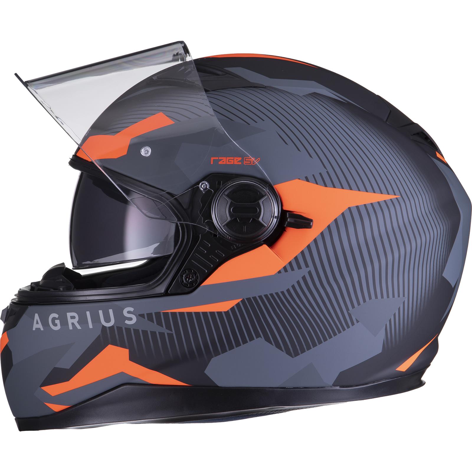 Agrius-Rage-SV-Tracker-Full-Face-Motorcycle-Matt-Helmet-bike-Road-Bike-Scooter thumbnail 32