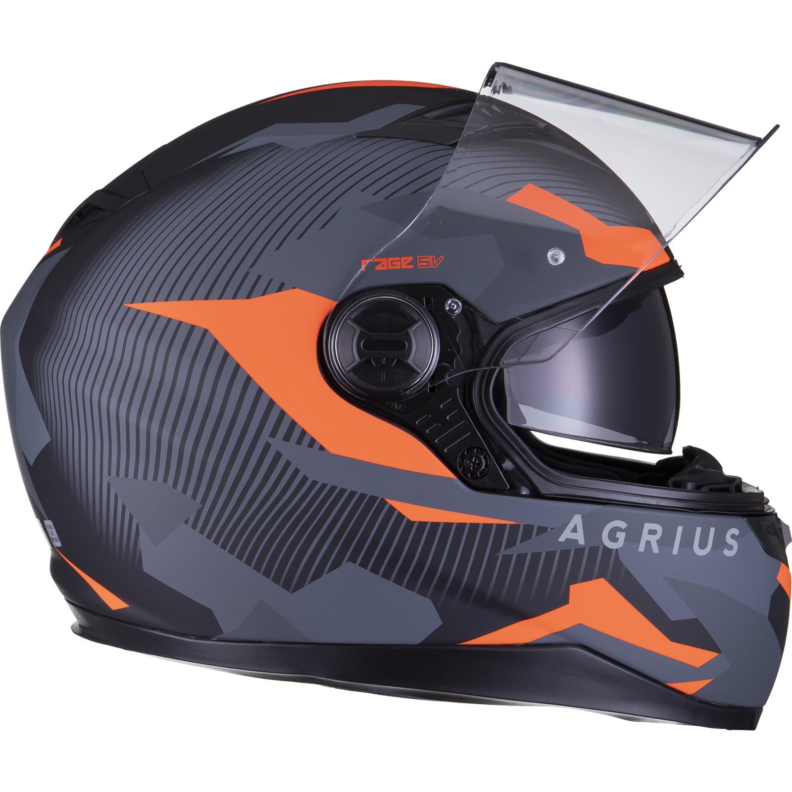 Agrius-Rage-SV-Tracker-Full-Face-Motorcycle-Matt-Helmet-bike-Road-Bike-Scooter thumbnail 33