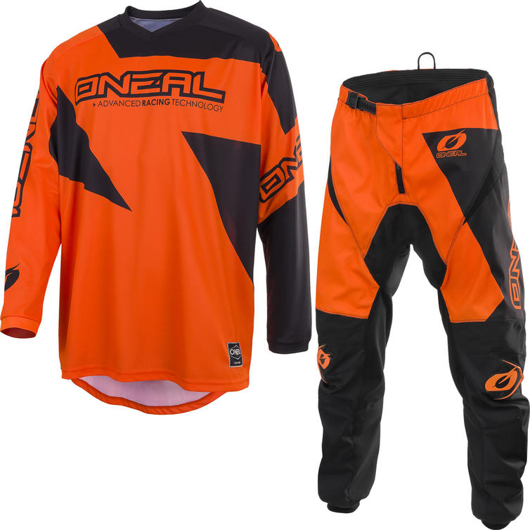 Oneal Matrix 2019 Ridewear Motocross Jersey & Pants Orange Kit
