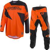 Oneal Matrix 2019 Ridewear Motocross Jersey & Pants Orange Kit