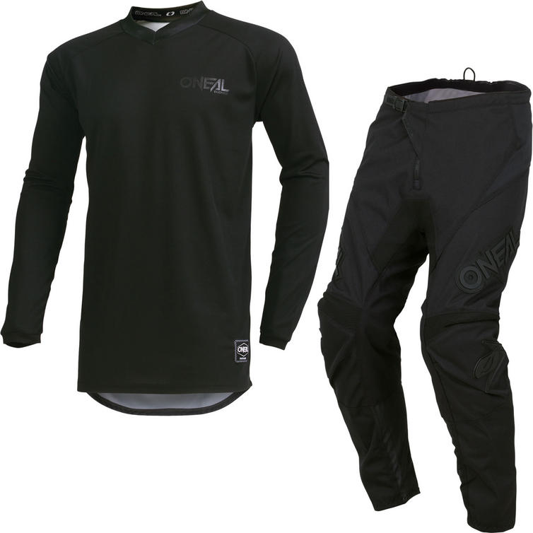 Oneal Element 2019 Classic Motocross Jersey & Pants Black Kit
