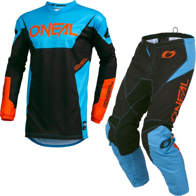 Oneal Element 2019 Racewear Motocross Jersey & Pants Blue Kit