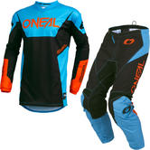 Oneal Element 2019 Racewear Motocross Jersey & Pants Blue Kit
