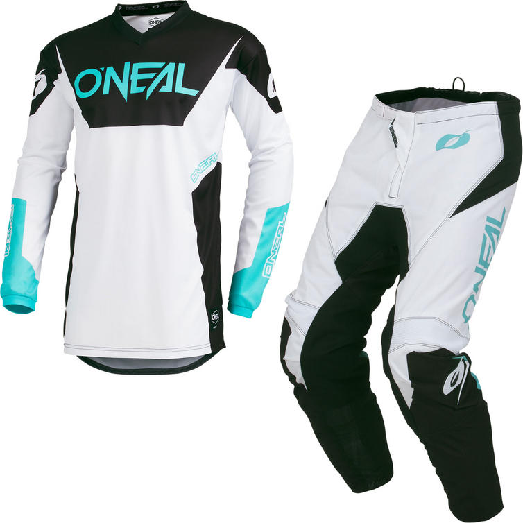 Oneal Element 2019 Racewear Motocross Jersey & Pants White Kit