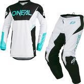Oneal Element 2019 Racewear Motocross Jersey & Pants White Kit