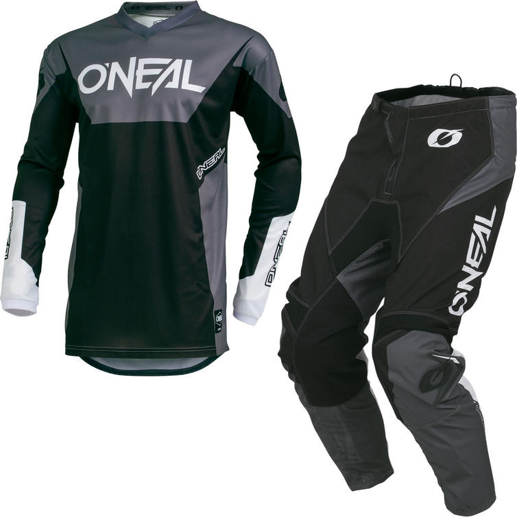Oneal Element 2019 Racewear Motocross Jersey & Pants Black Kit