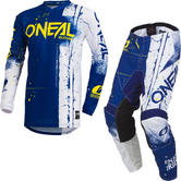 Oneal Element 2019 Shred Motocross Jersey & Pants Blue Kit