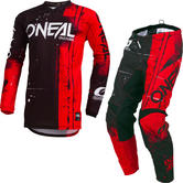 Oneal Element 2019 Shred Motocross Jersey & Pants Red Kit
