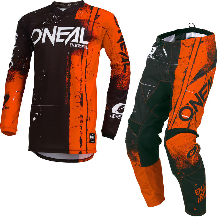 Oneal Element 2019 Shred Motocross Jersey & Pants Orange Kit