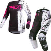 Oneal Element 2019 Shred Ladies Motocross Jersey & Pants Pink Kit