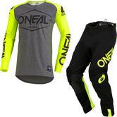 Oneal Mayhem 2020 Hexx Motocross Jersey & Pants Neon Yellow Kit