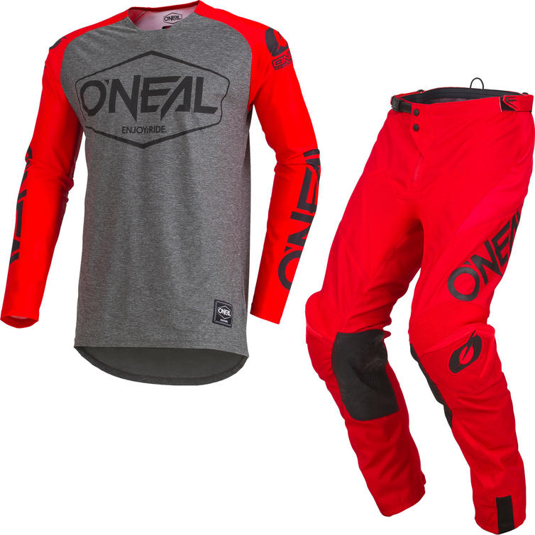 Oneal Mayhem Lite 2019 Hexx Motocross Jersey & Pants Red Kit