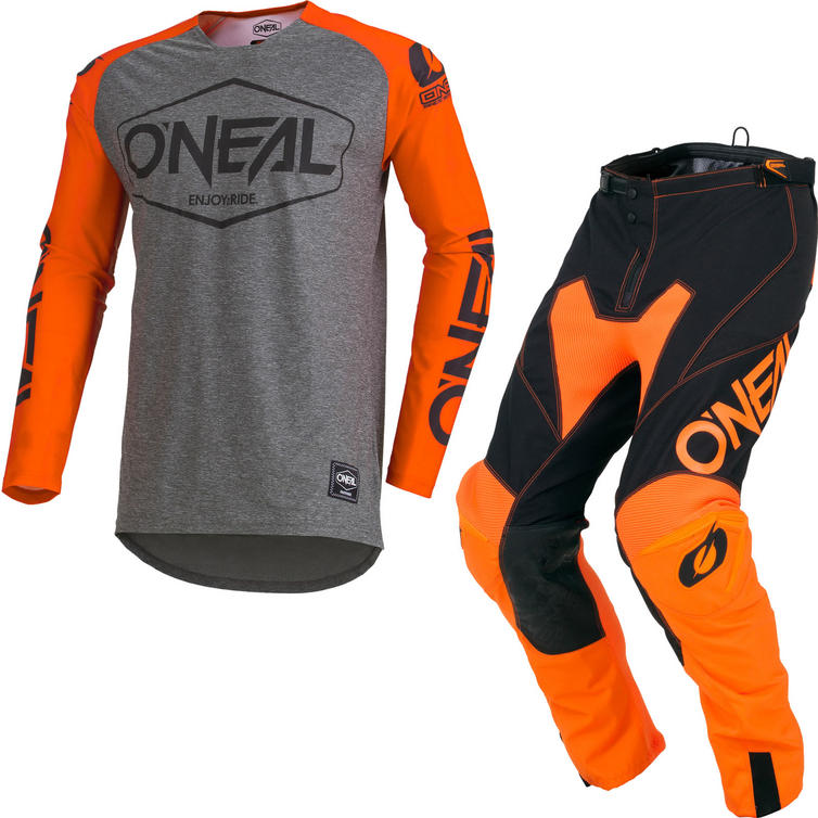 Oneal Mayhem Lite 2019 Hexx Motocross Jersey & Pants Orange Kit