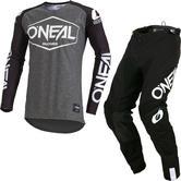Oneal Mayhem Lite 2019 Hexx Motocross Jersey & Pants Black Kit