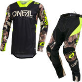 Oneal Mayhem Lite 2019 Ambush Motocross Jersey & Pants Neon Yellow Kit