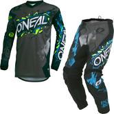 Oneal Element 2019 Villain Youth Motocross Jersey & Pants Grey Kit