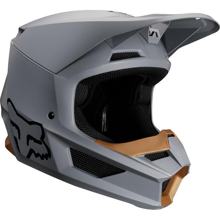fox racing 2019 v1 matte motocross helmet helmets. Black Bedroom Furniture Sets. Home Design Ideas