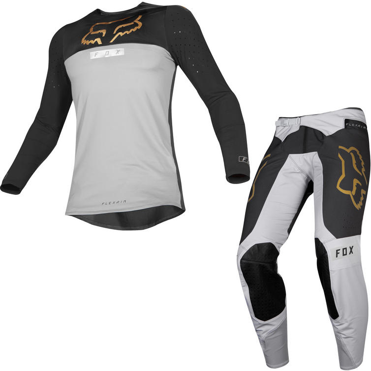 Fox Racing 2019 Flexair Royl Motocross Jersey & Pants Grey Kit