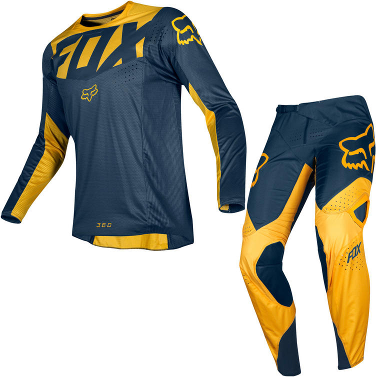 Fox Racing 2019 360 Kila Motocross Jersey & Pants Navy Yellow Kit