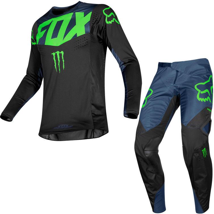 Fox Racing 2019 360 PC Motocross Jersey & Pants Black Kit
