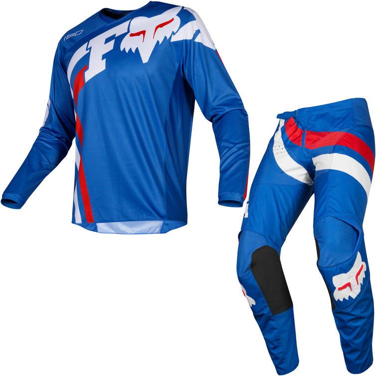 Fox Racing 2019 180 Cota Motocross Jersey & Pants Blue Kit