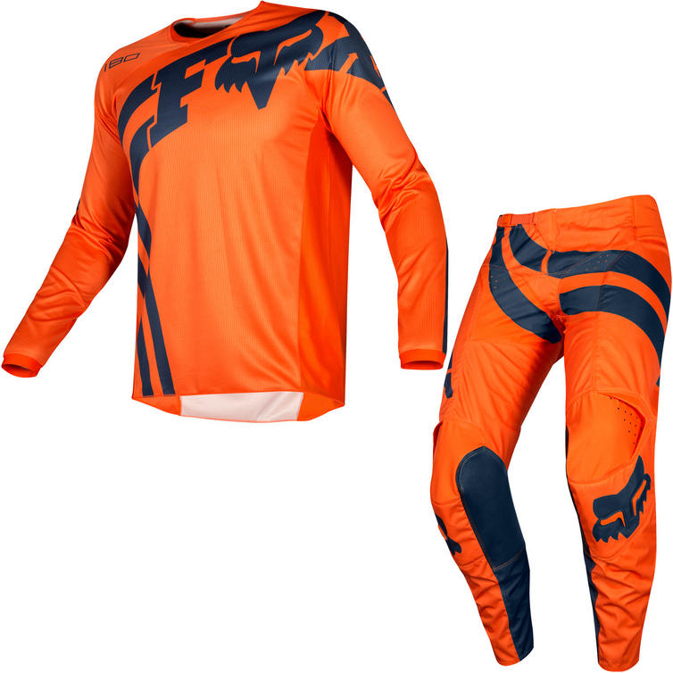 Fox Racing 2019 180 Cota Motocross Jersey & Pants Orange Kit