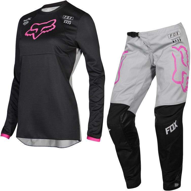 Fox Racing 2019 Ladies 180 Mata Motocross Jersey & Pants Black Pink Kit