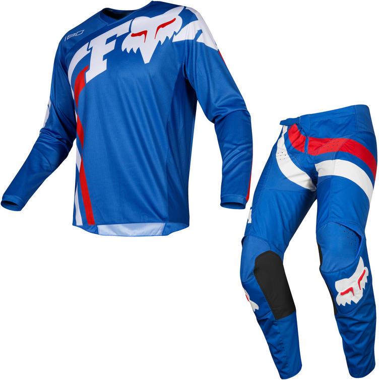 Fox Racing 2019 Youth 180 Cota Motocross Jersey & Pants Blue Kit