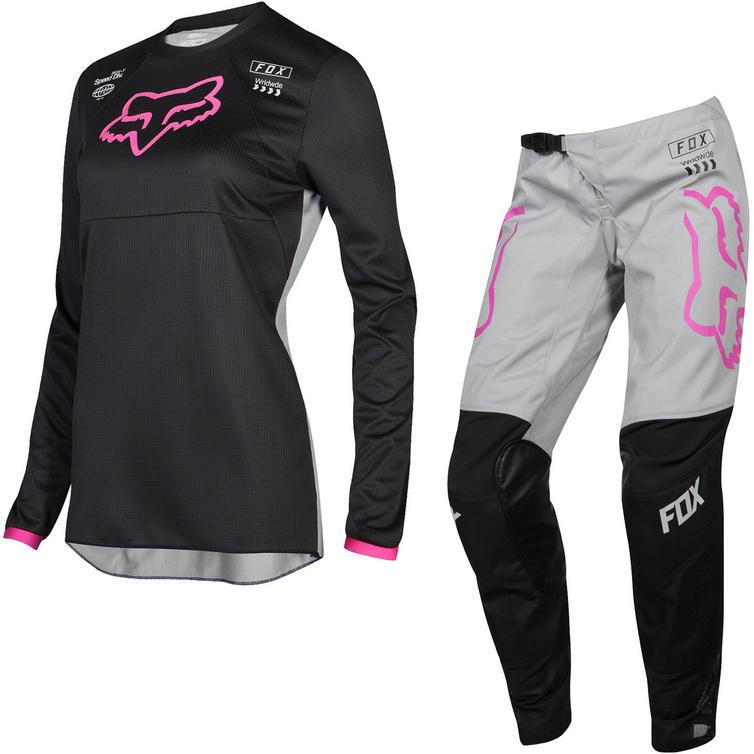 Fox Racing 2019 Youth Girls 180 Mata Motocross Jersey & Pants Black Pink Kit