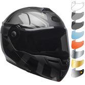 Bell SRT Blackout Flip Front Motorcycle Helmet & Visor