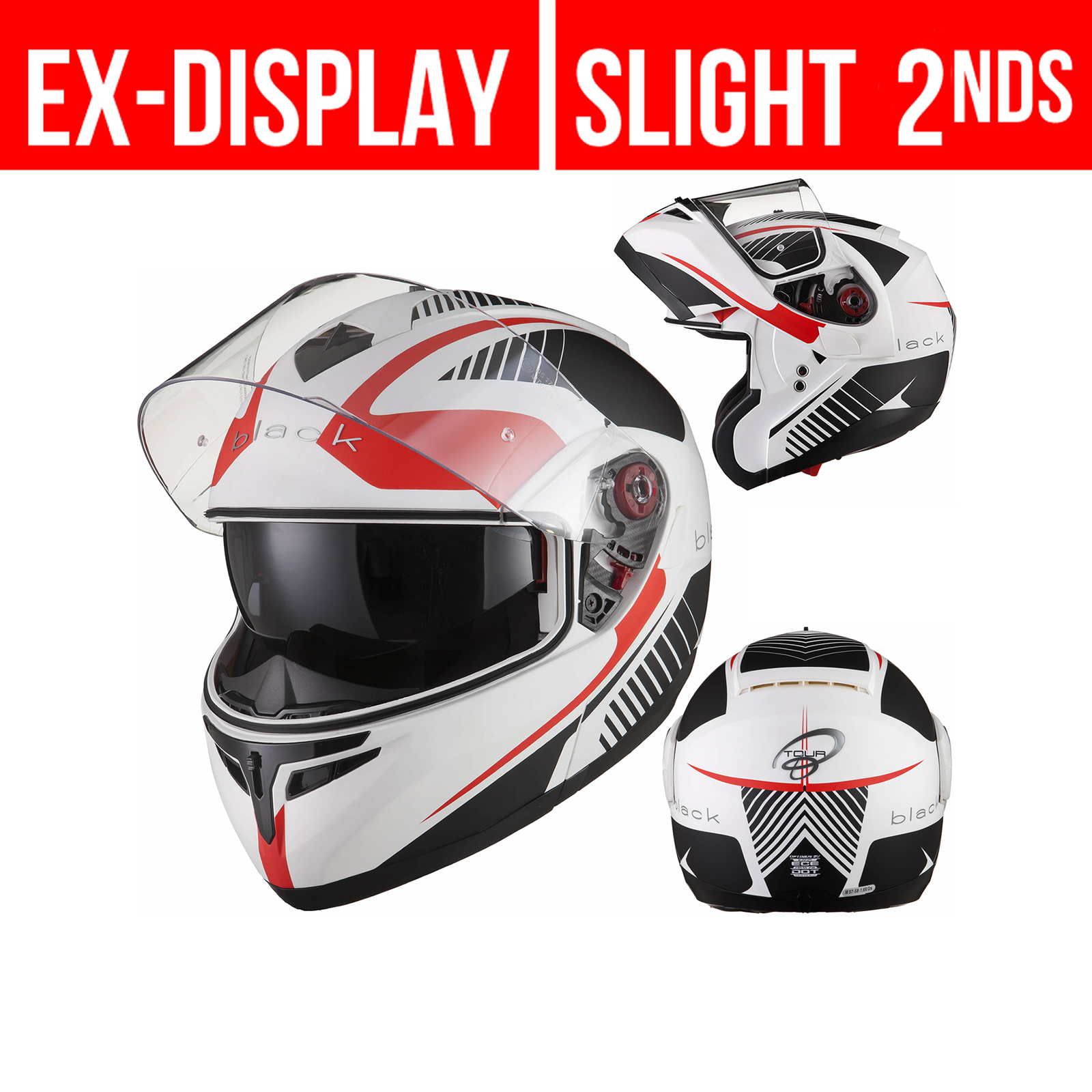 Zoan Optimus Eclipse Orange Modular Flip Up Motorcycle Riding Touring Helmet