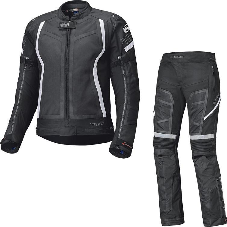 Held Aerosec Gore-Tex Motorcycle Jacket & Trousers Black White Kit