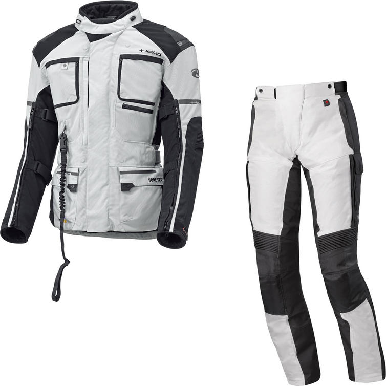 Held Carese APS Gore-Tex Motorcycle Jacket & Torno II Trousers Grey Black Kit