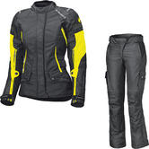 Held Molto Gore-Tex Ladies Motorcycle Jacket & Bene Trousers Black Fluo Yellow Kit