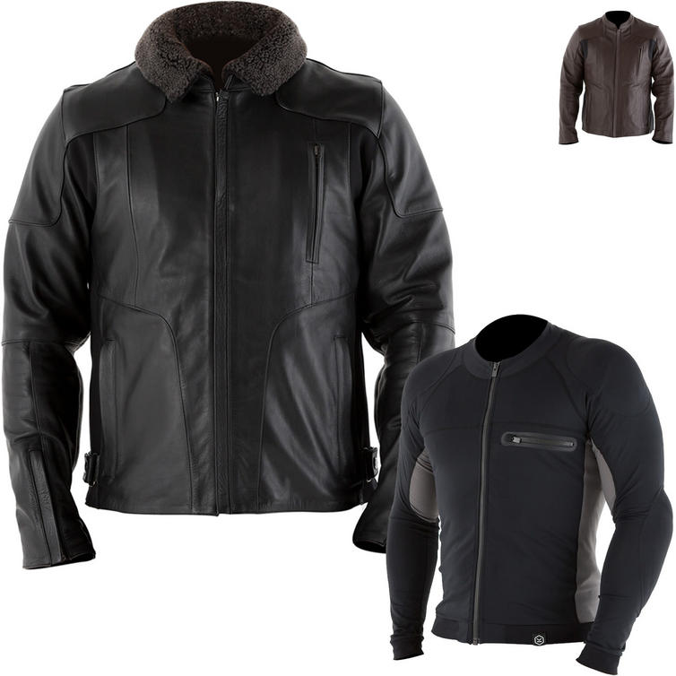 Knox Ford Leather Jacket with Action Armoured Shirt Package