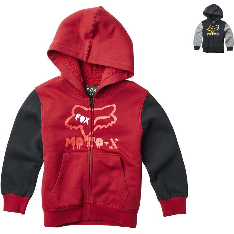 Fox Racing Supercharged Sherpa Youth Zip Fleece Hoodie