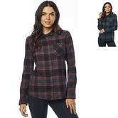 Fox Racing Kick It Ladies Long Sleeve Flannel Blouse