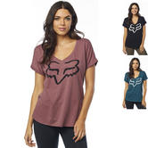 Fox Racing Responded Ladies Short Sleeve V-Neck Roll Sleeve Top