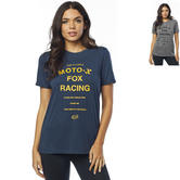 Fox Racing Darkside Ladies Short Sleeve BF Crew Neck Roll Sleeve Top