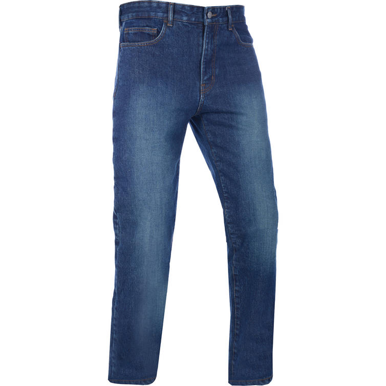 Oxford Barton Straight Fit Echo Blue Motorcycle Jeans