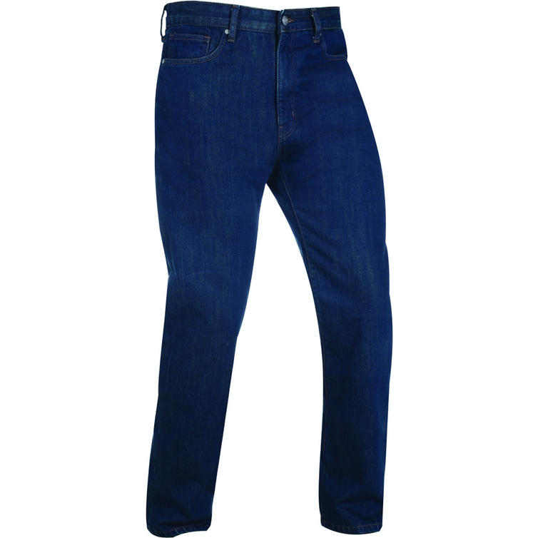 Oxford Barton Straight Fit Ink Wash Motorcycle Jeans