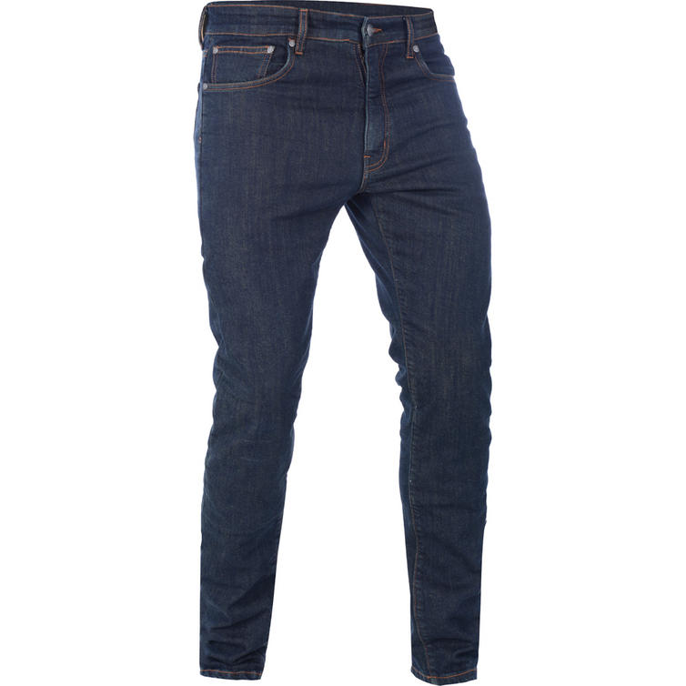 Oxford Hinksey Slim Fit Echo Blue Motorcycle Jeans